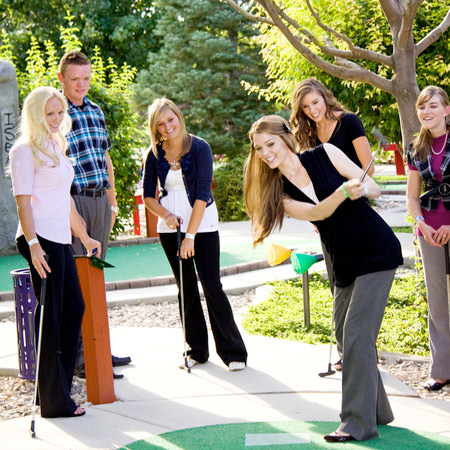 Boondocks - Group Playing Mini Golf