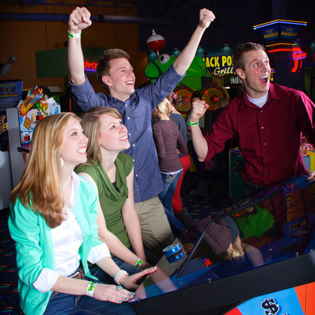 Boondocks - Group Celebrating Arcade Game Win