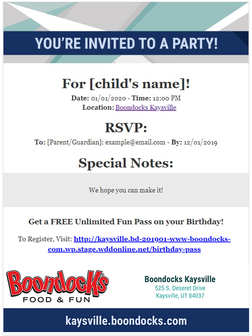 Boondocks - Birthday Party Email Invitation