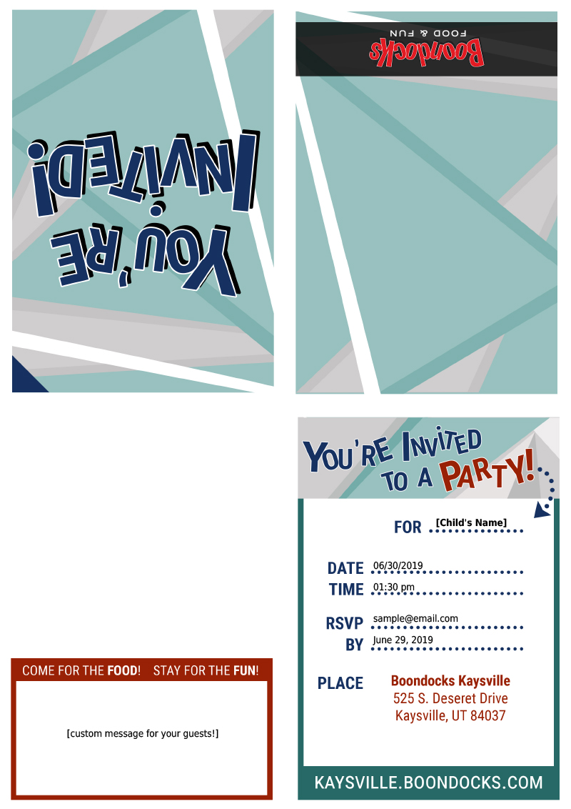 Boondocks - Kaysville Print Invite