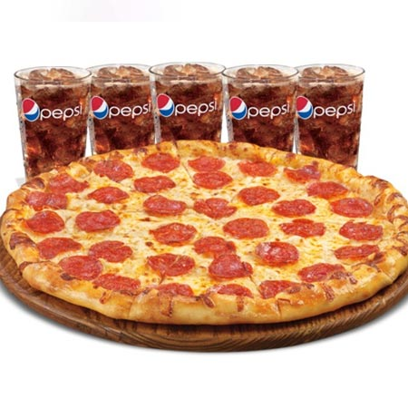 Pizza and 5 Sodas Special